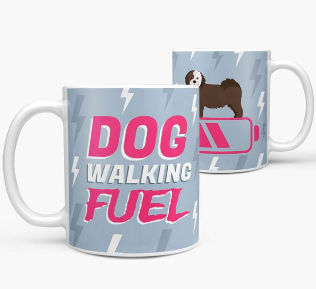 'Dog Walking Fuel' - Personalized Cava Tzu Mug