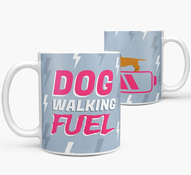 'Dog Walking Fuel' - Personalized Doxiepoo Mug