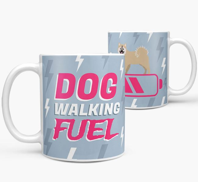 'Dog Walking Fuel' - Personalized Eurasier Mug