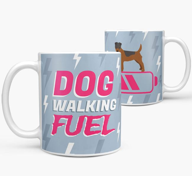 'Dog Walking Fuel' - Personalized Fox Terrier Mug