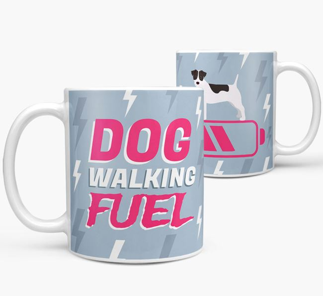 'Dog Walking Fuel' - Personalized Parson Russell Terrier Mug