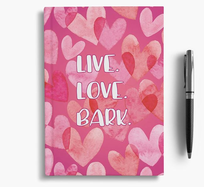 'Live Love Bark' Staffie Notebook