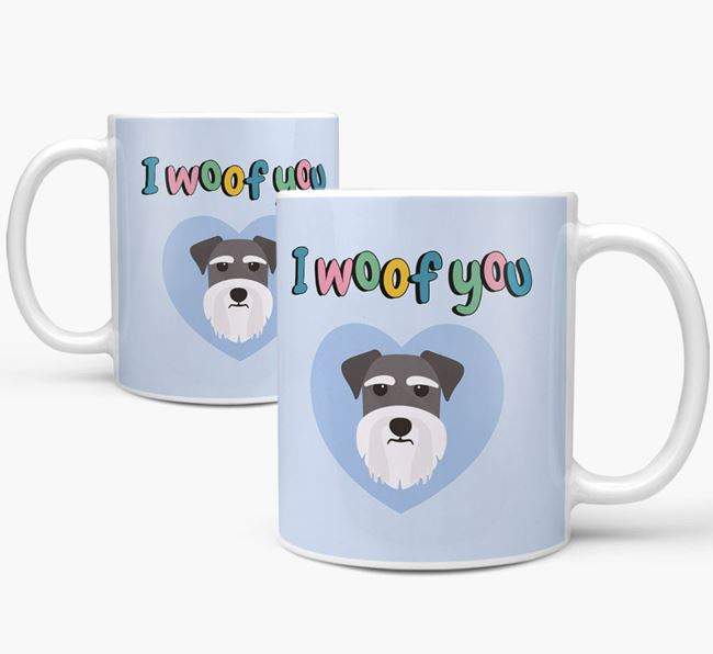 'I Woof You' Mug - Personalized for your Dog