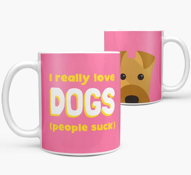'I Really Love Dogs' - Personalized Airedale Terrier Mug