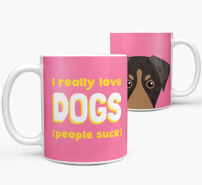 'I Really Love Dogs' - Personalized American Leopard Hound Mug