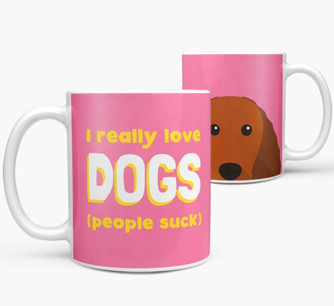 'I Really Love Dogs' - Personalized American Water Spaniel Mug