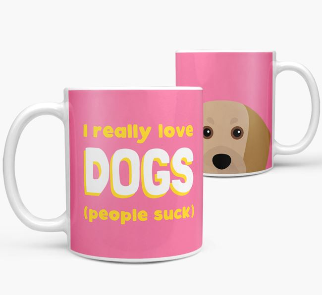 'I Really Love Dogs' - Personalized Beaglier Mug