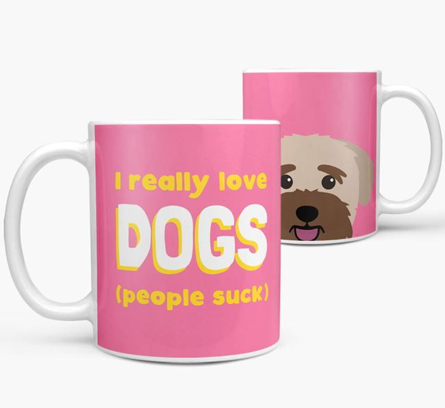 'I Really Love Dogs' - Personalized Bichon Yorkie Mug