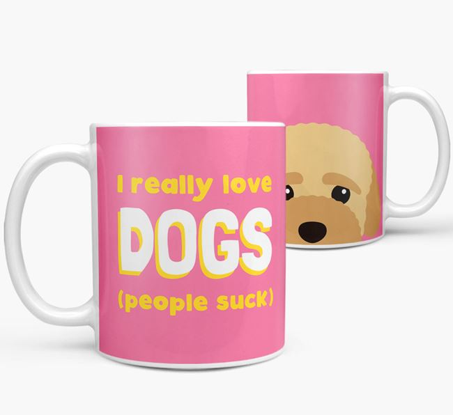 'I Really Love Dogs' - Personalized Bich-poo Mug