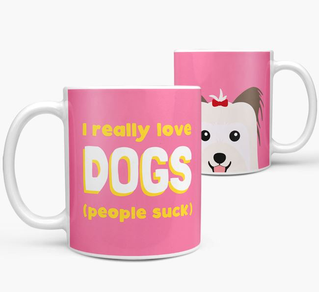'I Really Love Dogs' - Personalized Biewer Terrier Mug