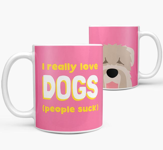 'I Really Love Dogs' - Personalized Black Russian Terrier Mug