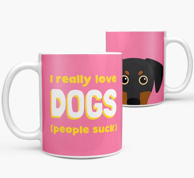'I Really Love Dogs' - Personalized Blue Lacy Mug