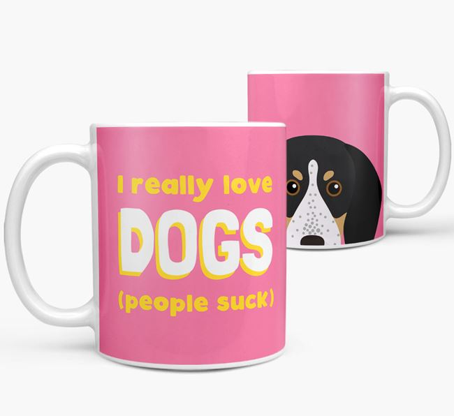 'I Really Love Dogs' - Personalized Bluetick Coonhound Mug