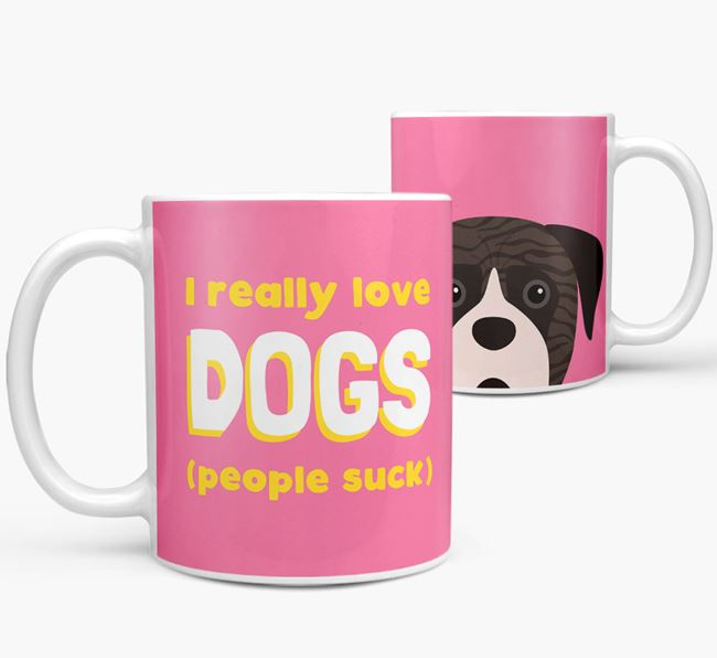 'I Really Love Dogs' - Personalized Boerboel Mug