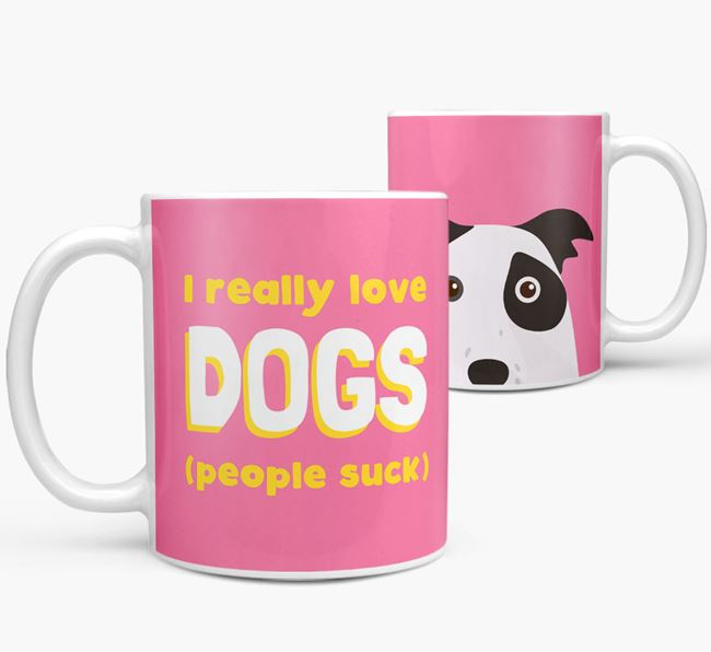 'I Really Love Dogs' - Personalized Border Collie Mug