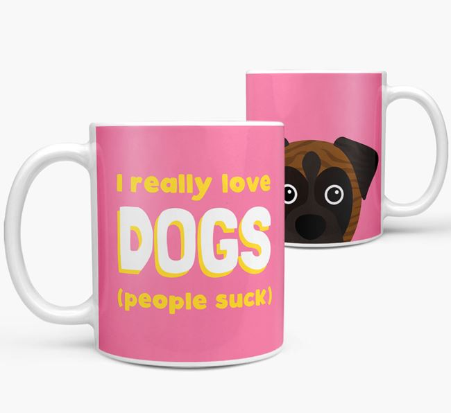 'I Really Love Dogs' - Personalized Boxer Mug