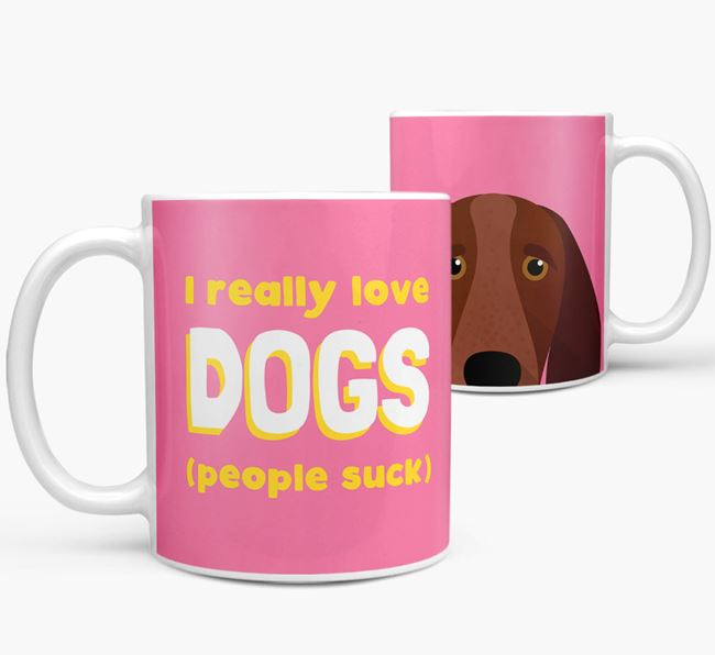 'I Really Love Dogs' - Personalized Bracco Italiano Mug