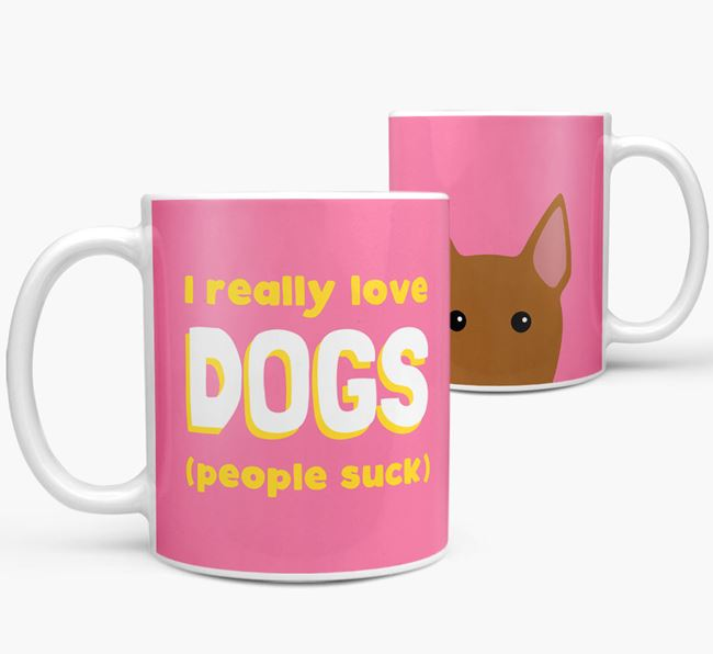 'I Really Love Dogs' - Personalized Bull Terrier Mug