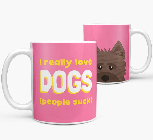'I Really Love Dogs' - Personalized Cairn Terrier Mug