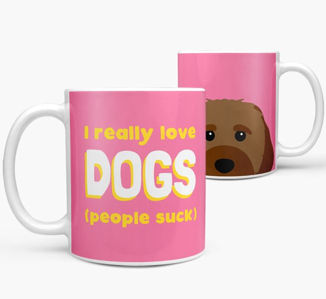 'I Really Love Dogs' - Personalized Cavachon Mug