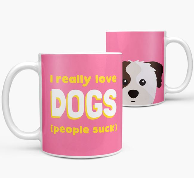 'I Really Love Dogs' - Personalized Cava Tzu Mug