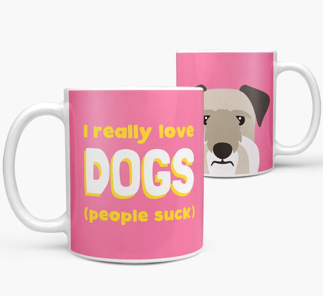 'I Really Love Dogs' - Personalized Cesky Terrier Mug