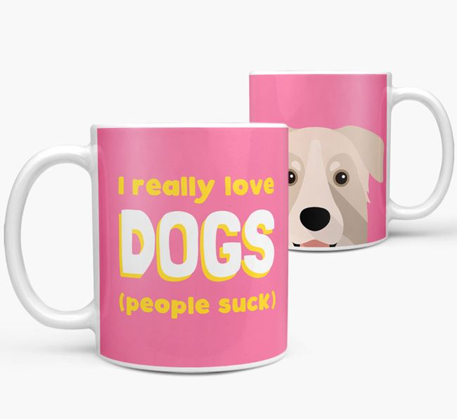'I Really Love Dogs' - Personalized Chinook Mug
