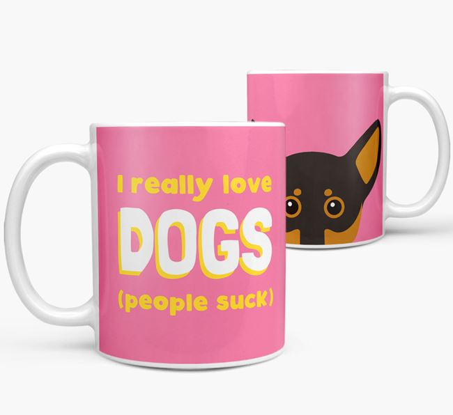 'I Really Love Dogs' - Personalized Chiweenie Mug