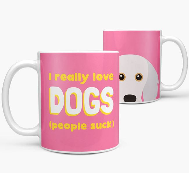 'I Really Love Dogs' - Personalized Doxiepoo Mug