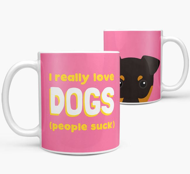 'I Really Love Dogs' - Personalized English Toy Terrier Mug