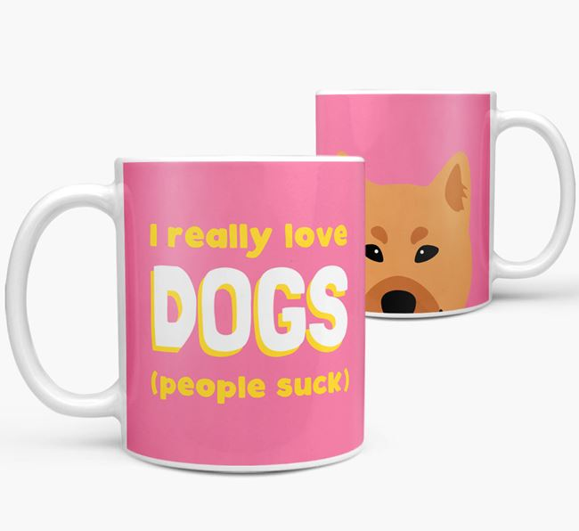 'I Really Love Dogs' - Personalized Finnish Spitz Mug