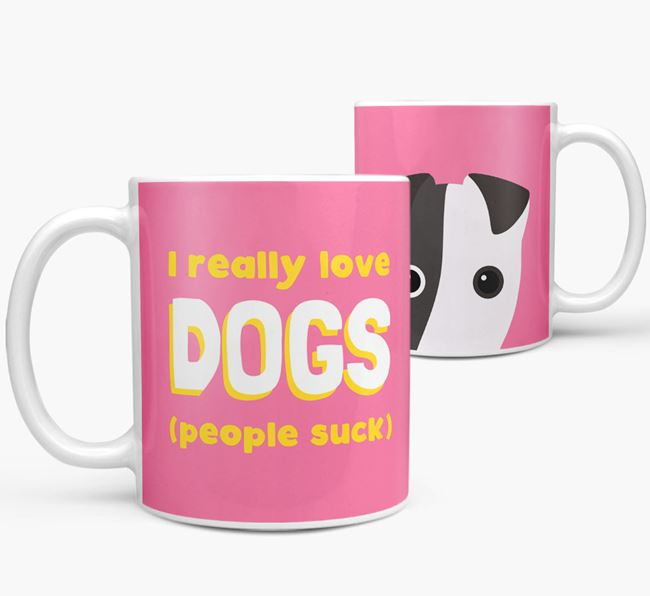 'I Really Love Dogs' - Personalized Fox Terrier Mug