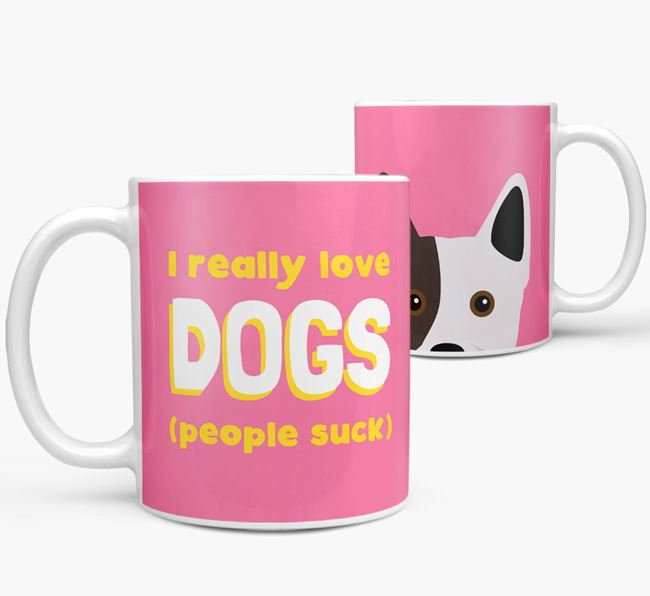 'I Really Love Dogs' - Personalized Frenchie Staff Mug