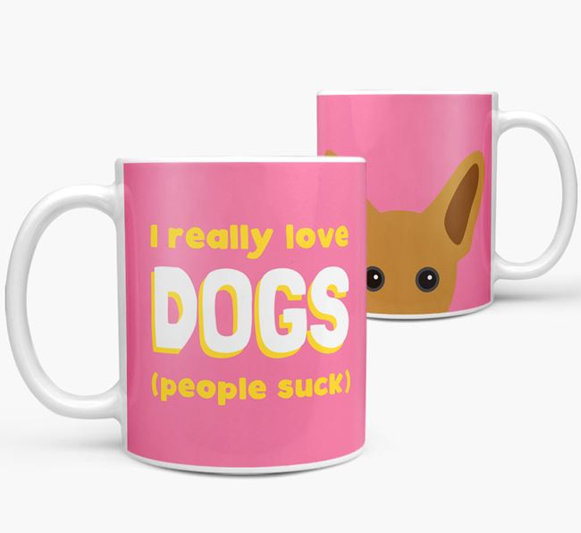 'I Really Love Dogs' - Personalized French Pin Mug