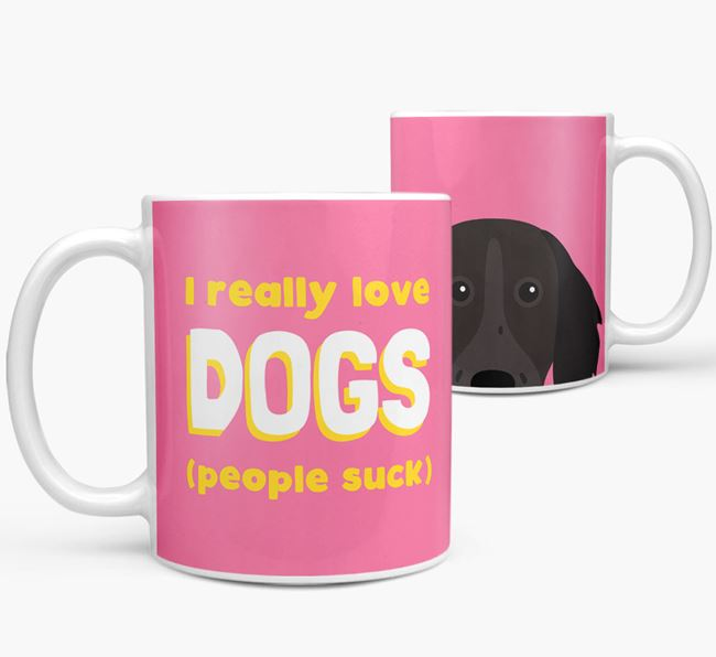 'I Really Love Dogs' - Personalized German Longhaired Pointer Mug