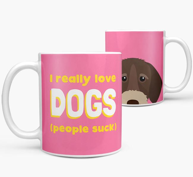 'I Really Love Dogs' - Personalized German Wirehaired Pointer Mug