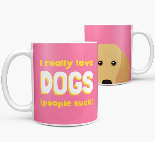 'I Really Love Dogs' - Personalized Golden Dox Mug