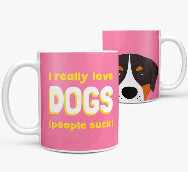 'I Really Love Dogs' - Personalized Greater Swiss Mountain Dog Mug