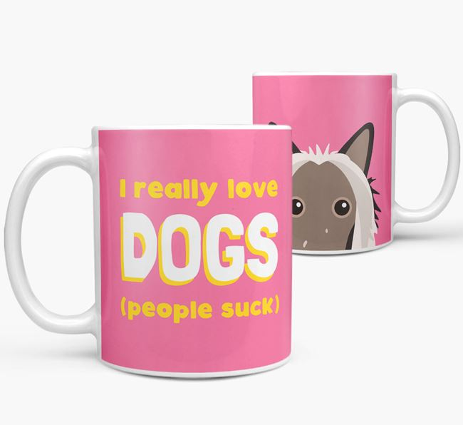 'I Really Love Dogs' - Personalized Hairless Chinese Crested Mug