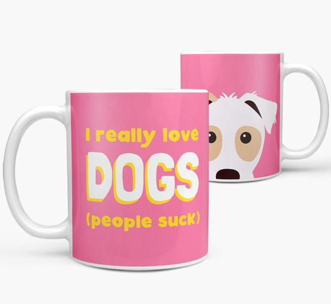 'I Really Love Dogs' - Personalized Parson Russell Terrier Mug