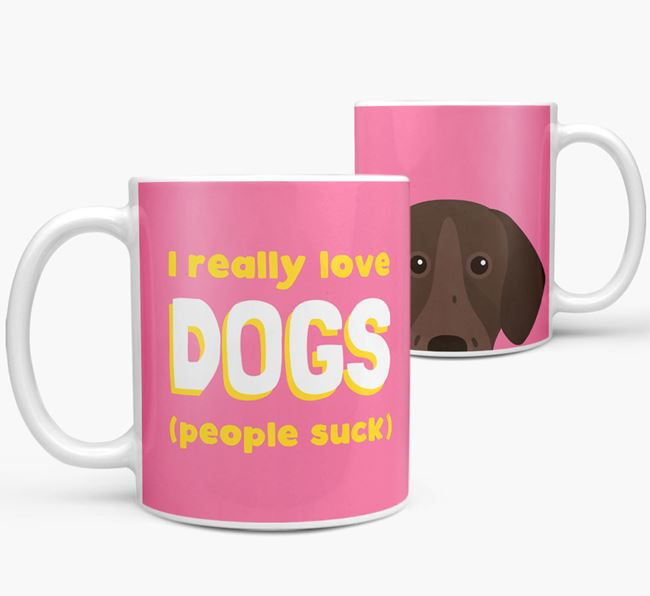'I Really Love Dogs' - Personalized Pointer Mug