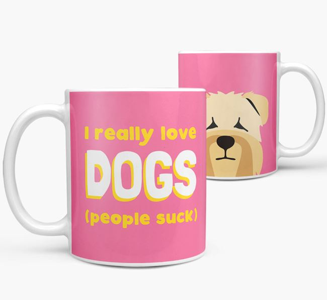 'I Really Love Dogs' - Personalized Soft Coated Wheaten Terrier Mug