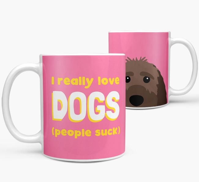 'I Really Love Dogs' - Personalized Sproodle Mug