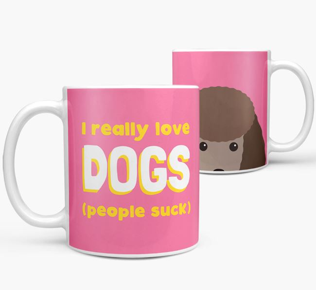 'I Really Love Dogs' - Personalized Toy Poodle Mug