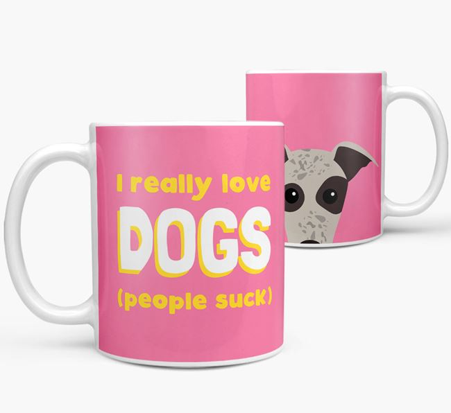 'I Really Love Dogs' - Personalized Whippet Mug