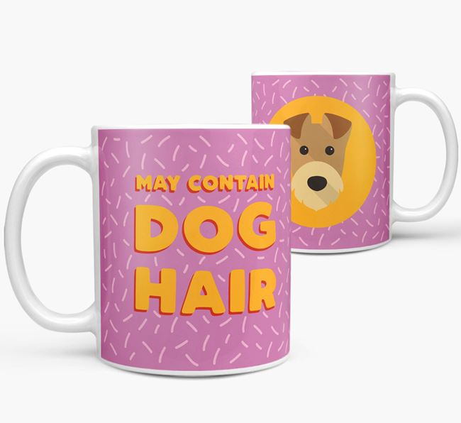 'May Contain Dog Hair' - Personalized Airedale Terrier Mug