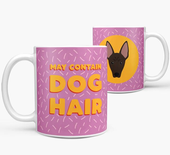 'May Contain Dog Hair' - Personalized American Hairless Terrier Mug