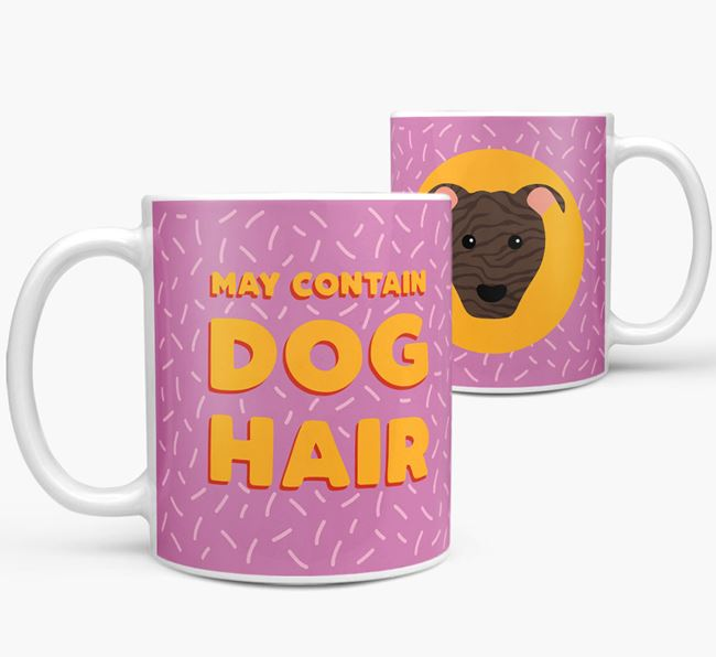 'May Contain Dog Hair' - Personalized American Pit Bull Terrier Mug