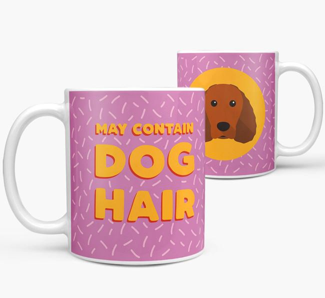 'May Contain Dog Hair' - Personalized American Water Spaniel Mug