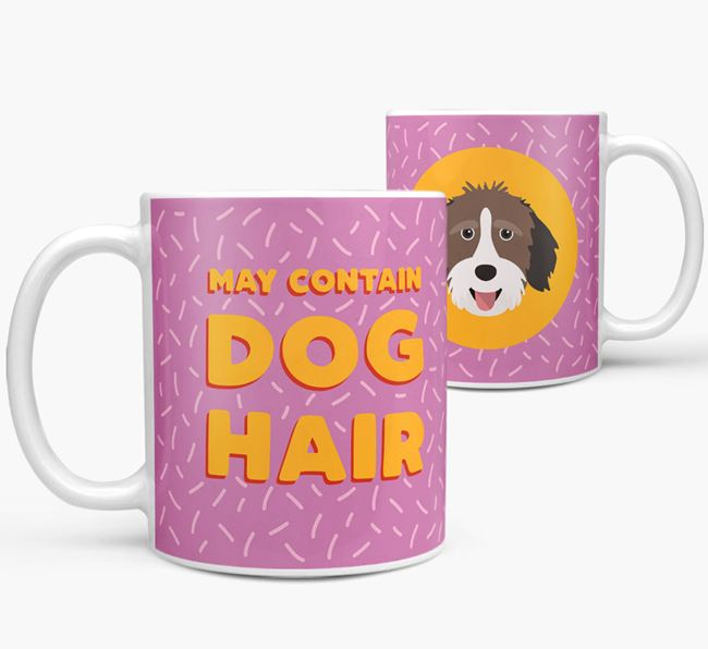 'May Contain Dog Hair' - Personalized Aussiedoodle Mug